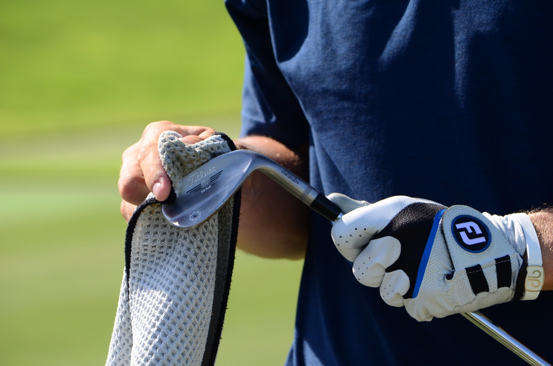 A clean clubface between strikes is important...