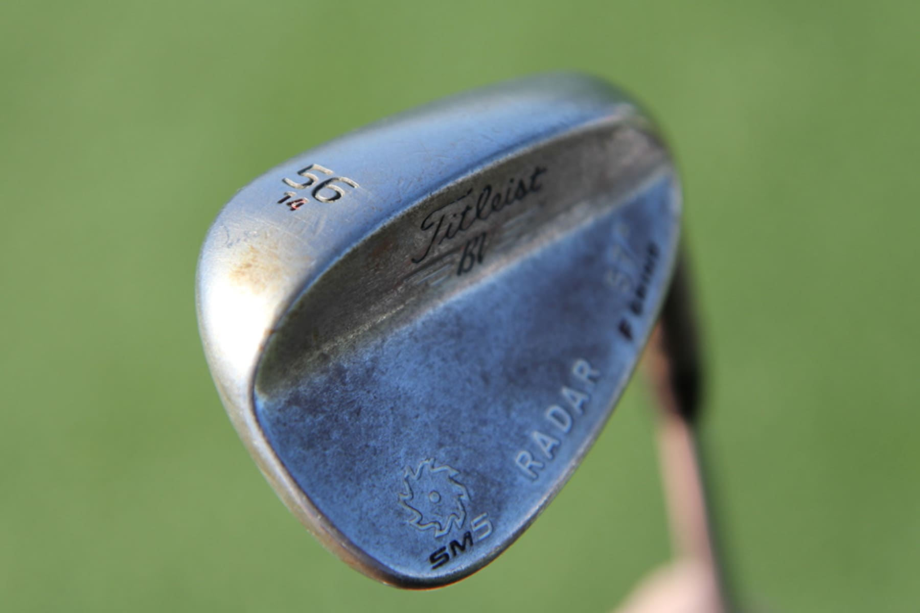 Justin sand wedge of choice, a Vokey SM5 56.14...