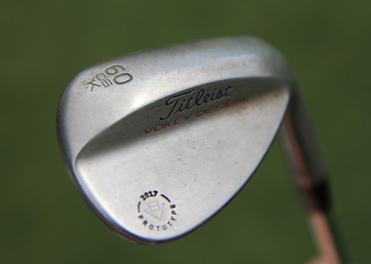 ...and this prototype Vokey 60° K grind, which...