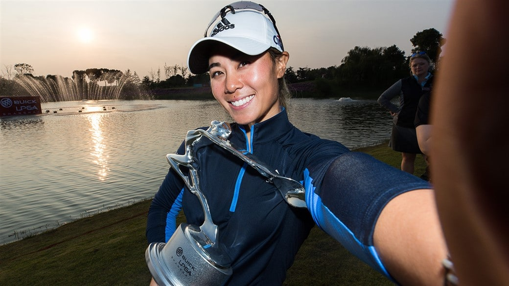 Danielle Kang is all smiles after defending her title at the 2019 Buick Shanghai LPGA