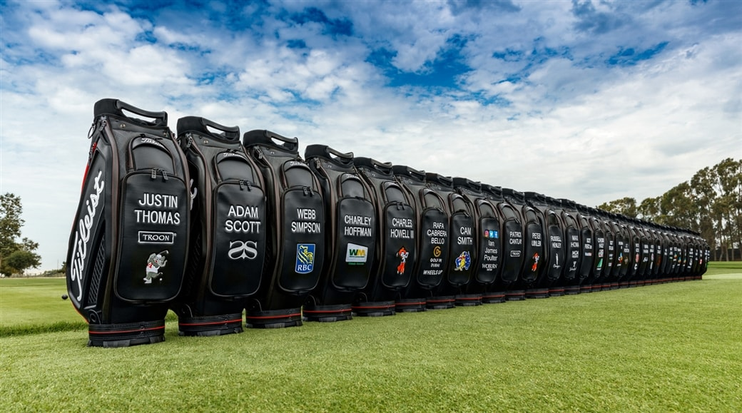 New Titleist Tour Bags lined up for launch.
