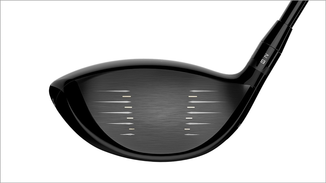 Titleist TS4 golf driver club face close up