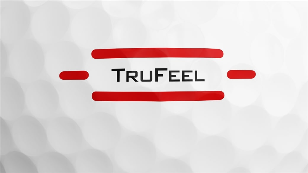 The alignment aid that appears on the sidestamp of the new Titleist TruFeel golf ball