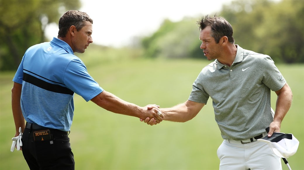 Charles Howell III and Paul Casey Shake Hands at WGC - Dell Technologies Match Play