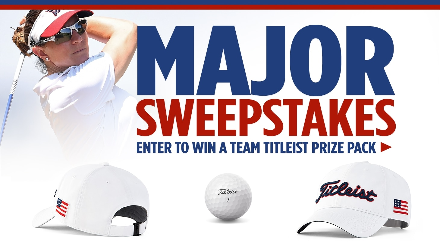Graphic announcing Team Titleist prize pack sweepstakes
