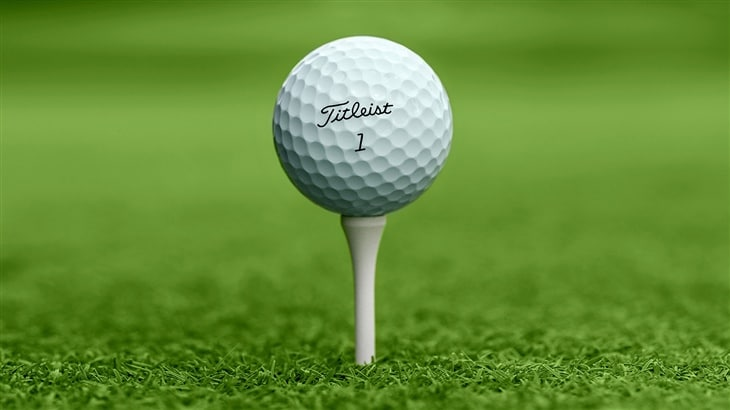 Pro V1 Golf Ball on Tee