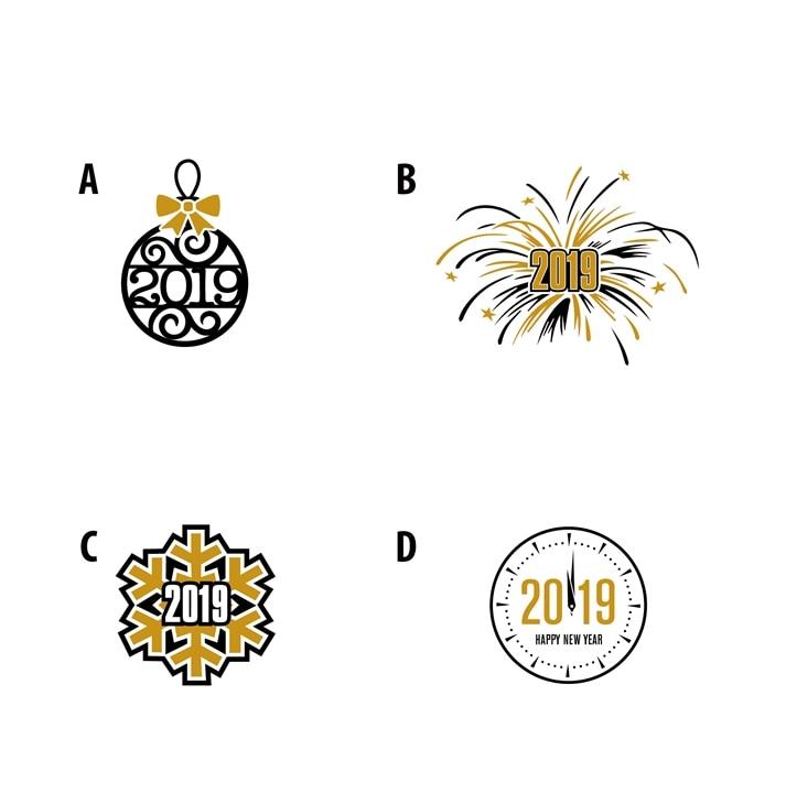 Happy New Year Logo 2019 43